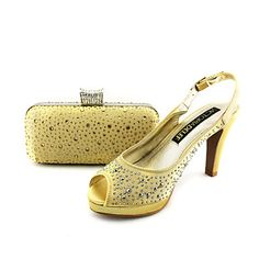 Women's Shoes Slingback Stiletto Heel Satin Sandals Shoes Matching Satin Clutches Bag More Colors available – USD $ 74.99
