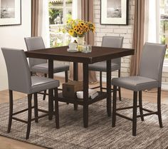 Fattori Counter Height Table Set by Coaster