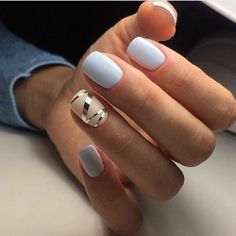 68 Ideas Nails Oval Beige Shape For 2019 Trendy Nail Art, Cool Nail Art, Coffin Nails Long, Long Nails, Blue Nails, White Nails, French Nails, Gorgeous Nails, Pretty Nails