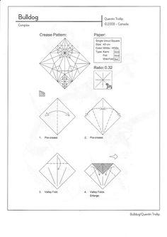 Bulldog diseñado por Quentin Trollip | El arte del Origami Bull Dog, Werewolf, Diagram, Chart, Ant Colony, Werewolves
