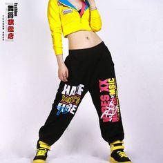 New fashion autumn winter Harem Hip Hop Dance Pants Women Sweatpants Costumes letter female sports trousers $33.68