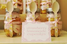 strawberry lemonade cupcakes in a jar  cc @Debi Lilly