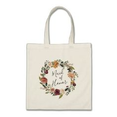 Rustic Bloom   Maid of Honor Tote Bag - chic design idea diy elegant beautiful stylish modern exclusive trendy