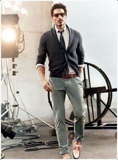Have a photoshoot? Chinos will make you look great.