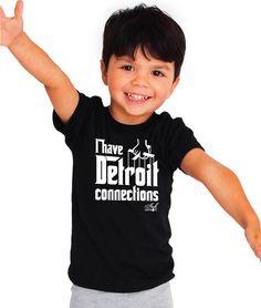 I Have Detroit Connections - Toddler T-Shirt - Black