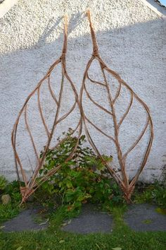 Sheet structure 4 - flowers nature ideas - Sheet structure 4 / The Effective Pictures We Offer You About garden art A quality pi - Willow Weaving, Basket Weaving, Design Jardin, Garden Design, Garden Crafts, Garden Projects, Diy Garden, Willow Furniture, Deco Nature