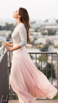 Amelia Full Pink Maxi Skirt