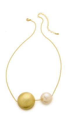 Jules Smith Assymetrical Imitation Pearl Necklace |