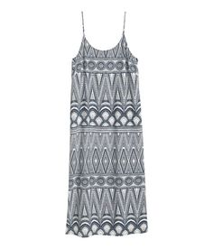 Check this out! Straight-cut dress in airy woven fabric with narrow shoulder straps and slits at sides. Unlined. - Visit hm.com to see more.