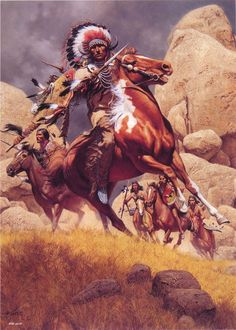Warriors of the Raven Native American Tattoos, Native American Warrior, Native American Paintings, Native American Pictures, Native American History, Indian Paintings, American Indian Wars, American Indians, Indian Horses