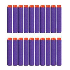Hot 100 pcs N-strike Elite Rampage Retaliator Series Blasters Refill Clip Darts soft bullet For Kid Toy Gun Purple