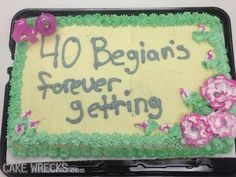 Were they trying to spell Bennigan�s? | 24 People Who Shouldn't Be Allowed To Decorate Cakes