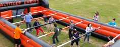 Here at Altitude Events we have a huge range of Inflatable Activities for you to hire! From Human Table Football to a Bungee Run, there is something for everyone to enjoy across a whole spectrum of sports and events! Football Pitch, Football S, Table Football, Giant Inflatable, Be A Nice Human, Girl Guides, Activity Days, Team Building, Corporate Events