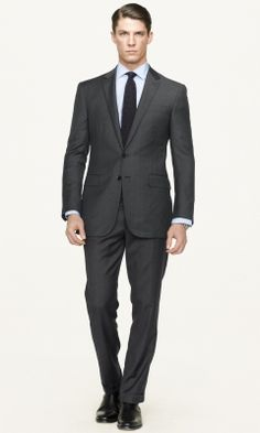 Black Label Anthony Glen Plaid Suit