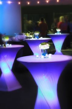 Look at these acrylic tables how they bring your event to life! #events