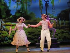 Emily Rohm plays the title role in Mary Poppins, and Matt Crowle is Bert in Mary Poppins. Paramount Theater, Mary Poppins, Musical Theatre, Love Story, Musicals, Disney Princess, Disney Characters, Photo Credit, Plays