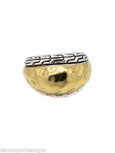 Hammered Metal Ring Stretch Jewelry Nickel Lead Free Triple Plated Metal Gifts #DavenportDesigns #Stretchring