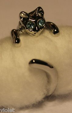 'Cat Finger Ring Adjustable' is going up for auction at  1pm Tue, Apr 9 with a starting bid of $6.