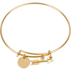 """- gold plated expandable bracelet - 1/2"""" gold plated circle charm - 1/2"""" gold…"""