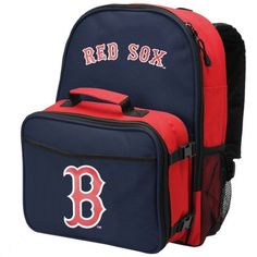 Boston Red Sox Daytripper Backpack and Lunchbox - Navy Blue/Red