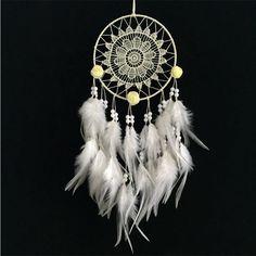 White Flower/Feather Dream Catcher