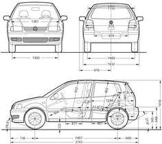 Znalezione obrazy dla zapytania volkswagen polo 3 wymiary
