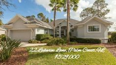 FALL IN LOVE WITH THIS 3bdrm/3bath Home built by Red Carpet on premier lot on cul de sac in Grand Haven Palm Coast Gated Community. Lot is on lake and golf course located at 22 Lakeview Lane, Palm Coast, FL - $529,000! Call/text me, Dawn Paape, for your mortgage pre-approval and any questions you may have, 386-338-7912, and then call Realtor Eddie Marcal, Grand Living Realty, 386-931-9127, for a tour of this home! #mortgage #realty #realtor #Florida