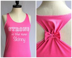 Workout Clothes Strong is the new Skinny - Medium. $30.00, via Etsy.