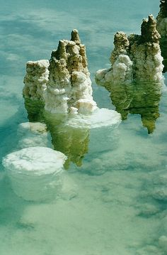 Dead Sea, Israel. The water is so clear, so pretty. and the rock formations are really lovely.http://www.flickr.com/photos/96040147@N03/9380917195/