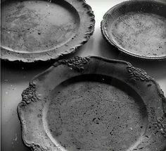 Concrete plates. Great for base of potted plants. Show them off...........