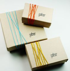 Like the coloured string to highlight different product ranges. Could be good for retail - stores would just keep one box open to show what you get