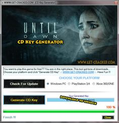 Until Dawn CD Key Generator 2016