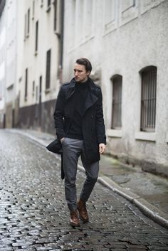 rotlichviertel_edit Marcel Floruss Trench coat: Burberry Turtle neck: Asos Wool pants: Moncler Boot's: Dr. Marten's Watch: Kenneth Cole