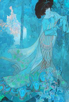 sullenmoons:  Georges de Feure, Fleurs d'Automne, 1900-1903
