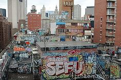 Graffiti And Urban Blight In New York City