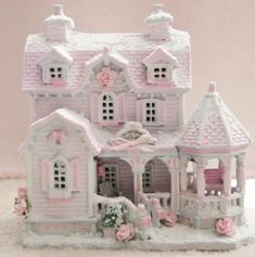 Up for Sale Shabby Pink Chic Bed and Breakfast Christmas Village House Lemax French Country | eBay