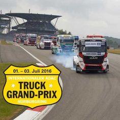 ADAC Truck-Grand-Prix am Nürburgring  Mit Industriemesse, Industriepark und TruckSymposium ist der 31. Internationale ADAC Truck-Grand-Prix auf dem Nürburgring (1. – 3. Juli 2016) nicht mehr nur eine Motorsportveranstaltung. Auf mehr als 24.000 Quadratmetern Messegelände stellen Lkw-Hersteller, Zulieferer aus der Branche, Spediteure, Logistiker und Reifenhersteller aus. Der Truck-Grand-Prix ist neben der IAA Hannover inzwischen die zweitgrößte Nutzfahrzeugmesse in Deutschland...