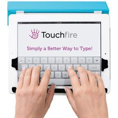 With the Touchfire Screen-Top Keyboard, you can now comfortably compose long loving emails to your loved ones instead of resorting to short replies because you are replying on your iPad. It is two credit cards thick and weighs just 3/8 of an ounce.