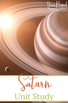 Your kids will have fun learning all about the planet Saturn using this Saturn Unit Study as part of their homeschool science class. #Saturn #SaturnStudy #SaturnUnit #SaturnUnitStudy #SolarSystem #UnitStudy #Homeschool #Homeschooling #YearRoundHomeschooling Facts For Kids, Fun Learning, Homeschooling, Study, The Unit, Unit Studies, Science, Studio, Investigations