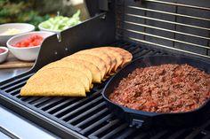 Check out this delicious recipe for Beef Tacos from Weber—the world's number one authority in grilling. Weber Bbq Recipes, Meat Recipes, Webber Bbq, Grilling, Tacos, Yummy Food, Beef, Stuffed Peppers, Cooking