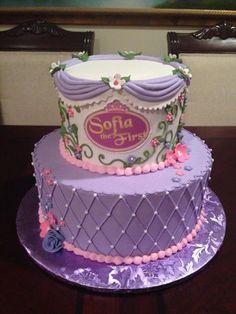 Sofia the First Birthday cake Sofia fondant cake Kadences bday