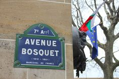 Avenue Bosquet with Flags, Paris, February 2012.
