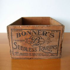Bonners Raisin Crate now featured on Fab.com $50 Love this...make a great magazine storage crate!!
