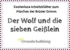 """Kostenlose Arbeitsblätter zum Märchen """"Der Wolf und die sieben Geißlein"""" von den Brüdern Grimm: Lesetext, Leseprobe #Deutsch #Grundschule #Märchen #Lesetest #Lesen"""