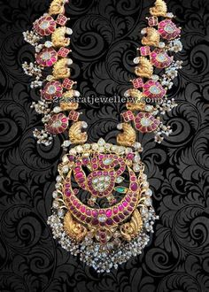 South Indian Jewellery, Indian Jewellery Design, Latest Jewellery, Indian Jewelry, Jewellery Designs, Gold Temple Jewellery, Gold Jewelry, Beaded Jewelry, Selling Jewelry