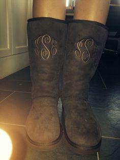 Monogrammed ugg boots