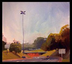 Túnel Conceição em Porto alegre Pintura óleo sobre tela  Tamanho 18x18 cm