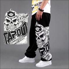 Wholesale Pants - Buy Men Harem Baggy Sweat Pants Athletic Sport Casual Sport Hip Hop Dance Trousers Skull Print Slacks Joggers Dance Wear Stylish Pants Bbox, $16.44 | DHgate