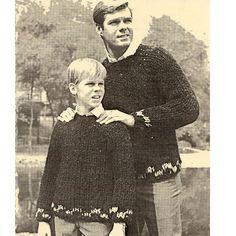 Men & Boys Easy Big Needle Pullover Knitting Pattern  - a fast and easy project, perfect for beginners.
