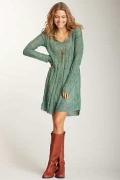Free People Angel Mohair Blend Cable Pullover Dress